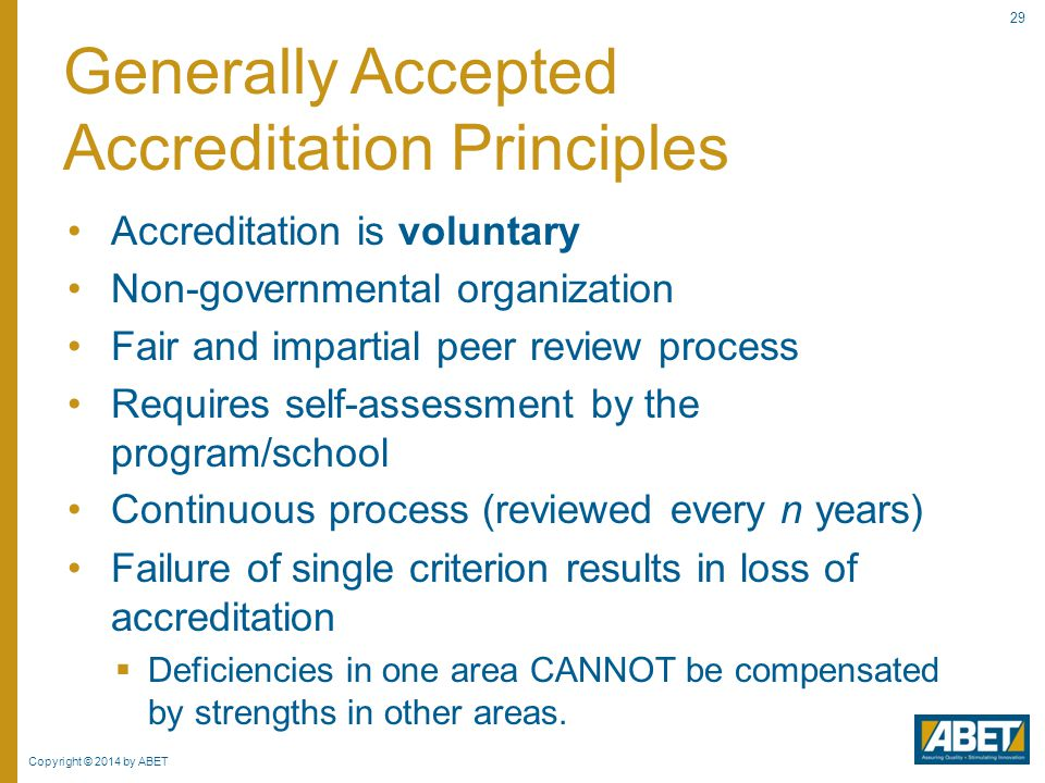 Faculty Workshop on Accreditation Processes