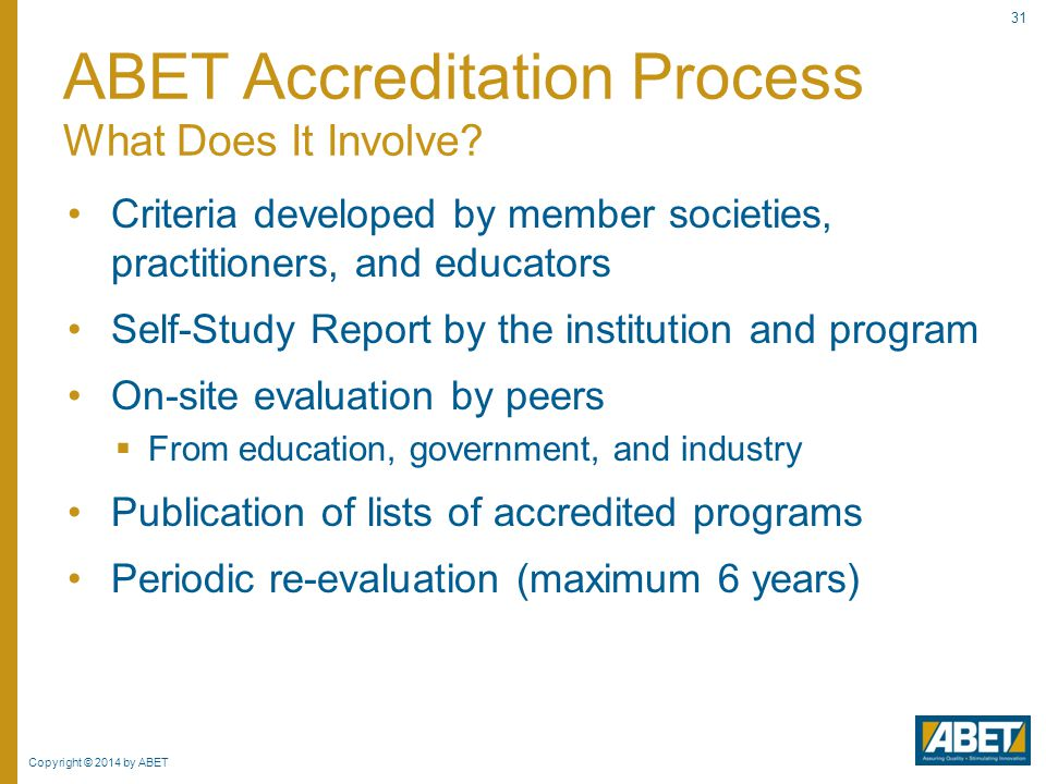 ABET Accreditation Process What Does It Involve