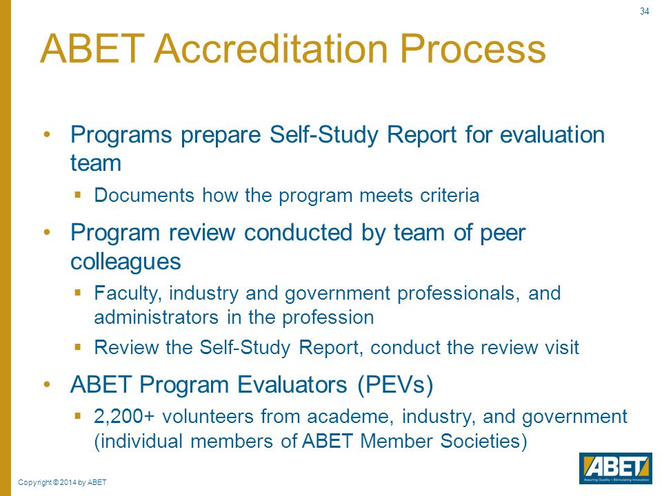 ABET Accreditation Process