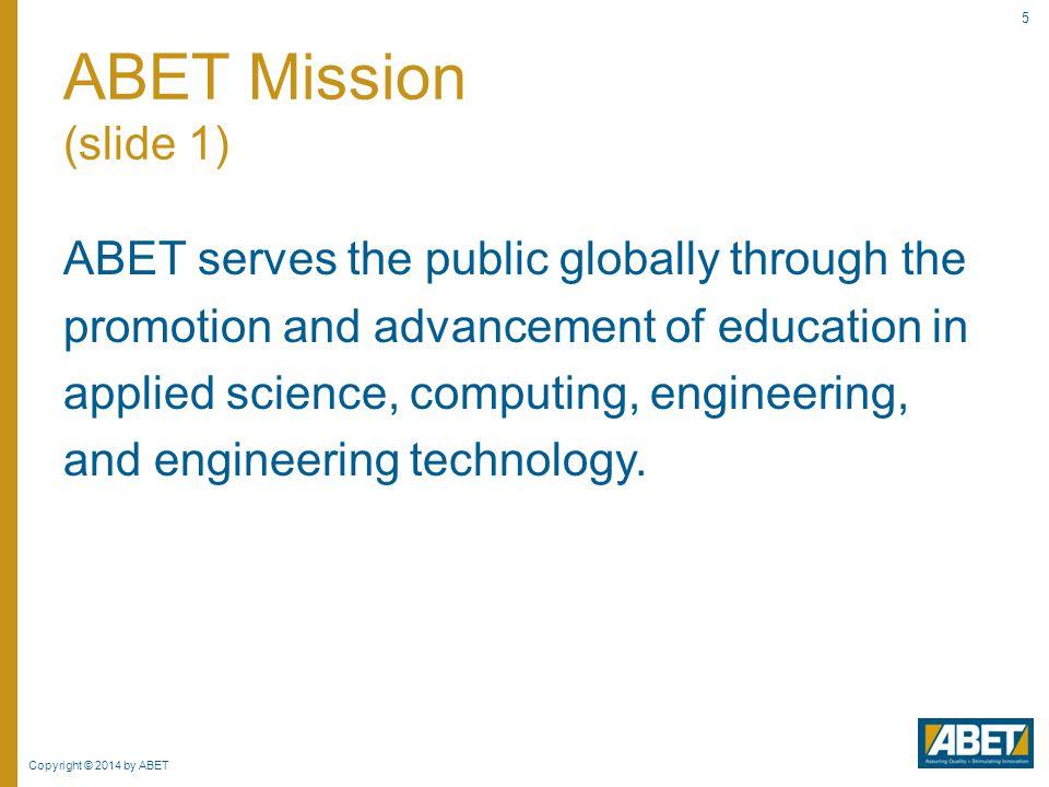 ABET Mission (slide 1)