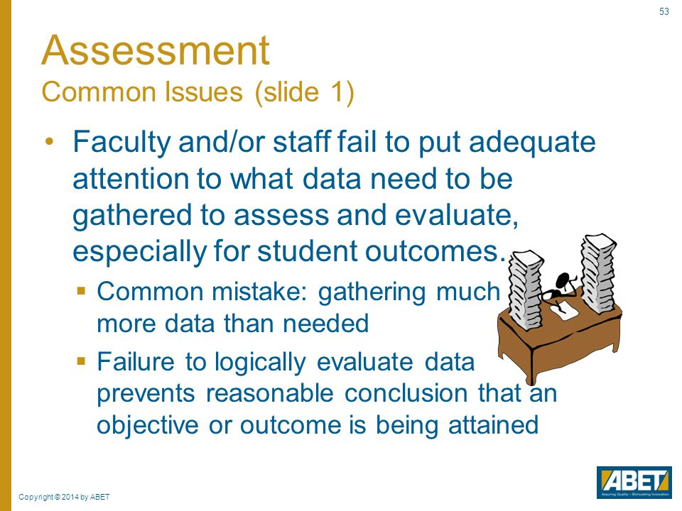 Assessment Common Issues (slide 1)