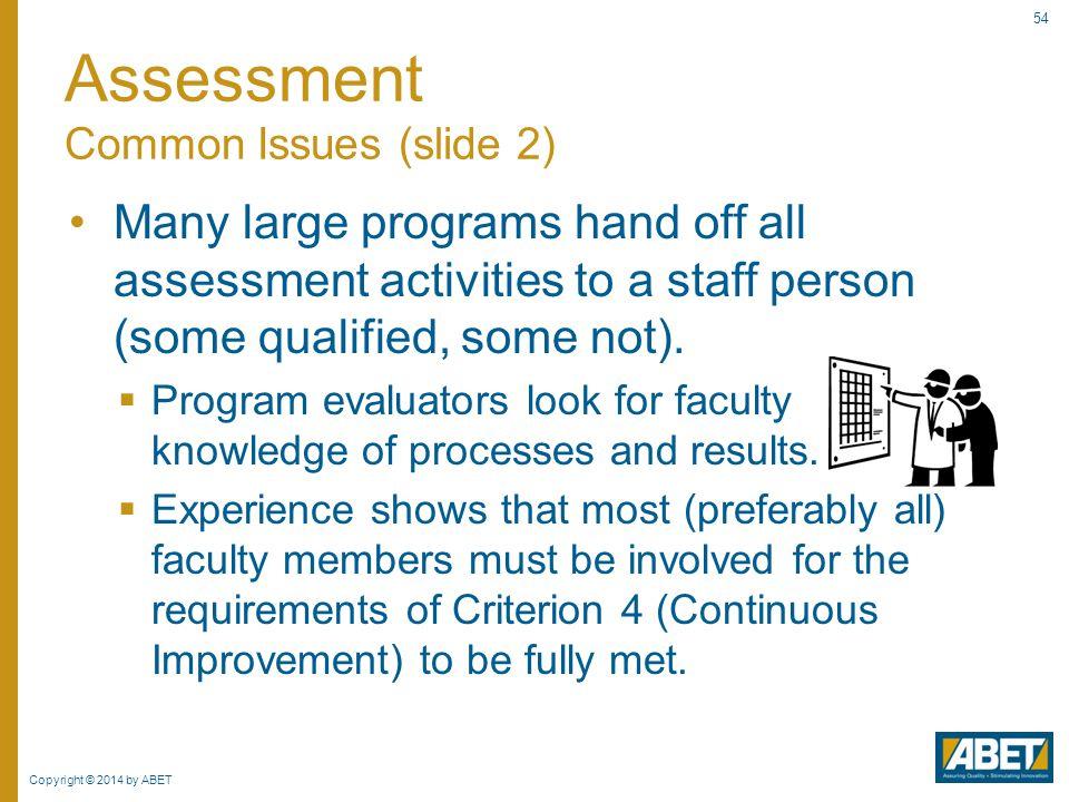 Assessment Common Issues (slide 2)