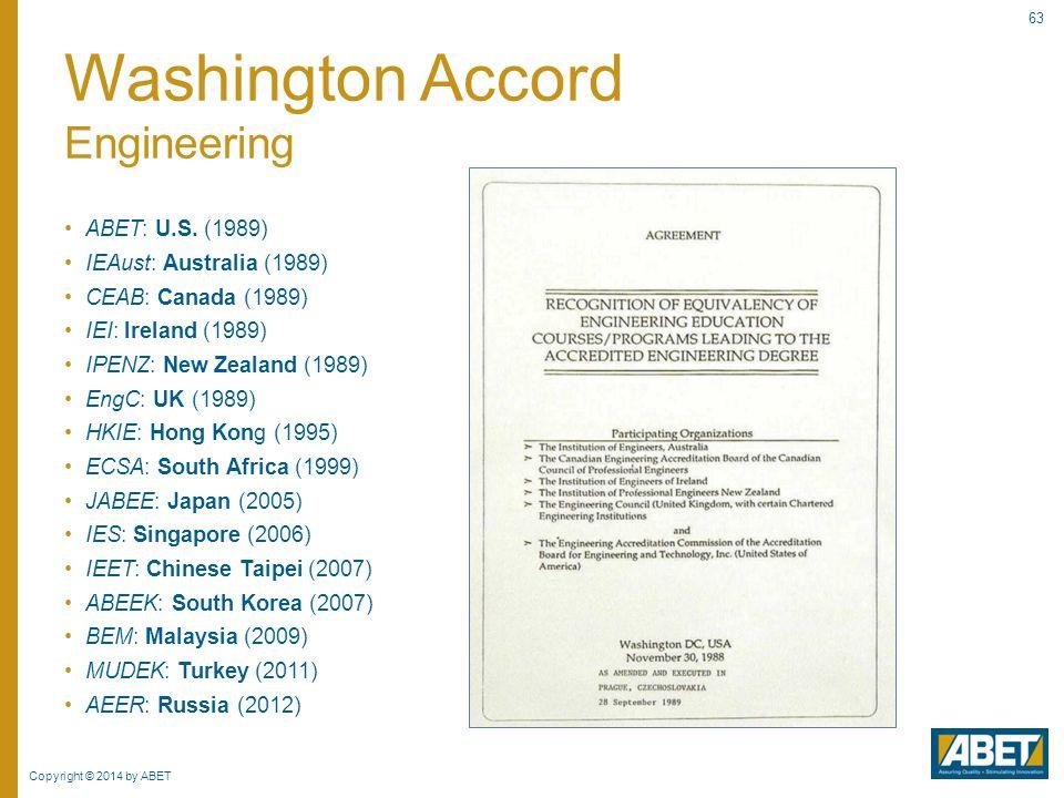 Washington Accord Engineering