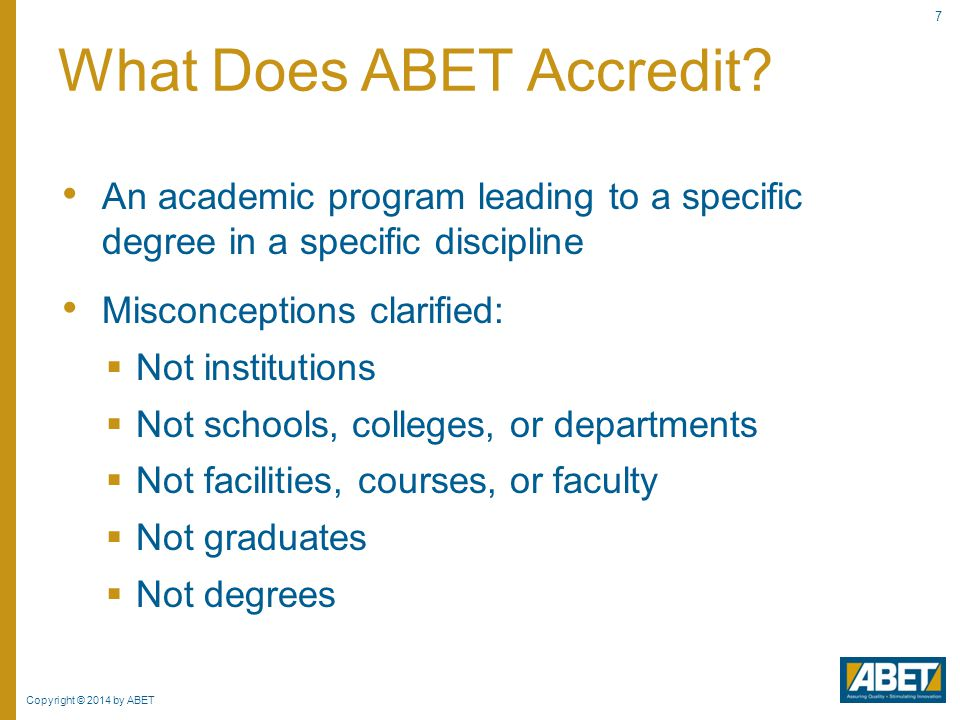 What Does ABET Accredit