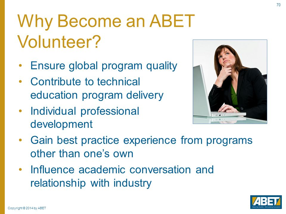 Why Become an ABET Volunteer