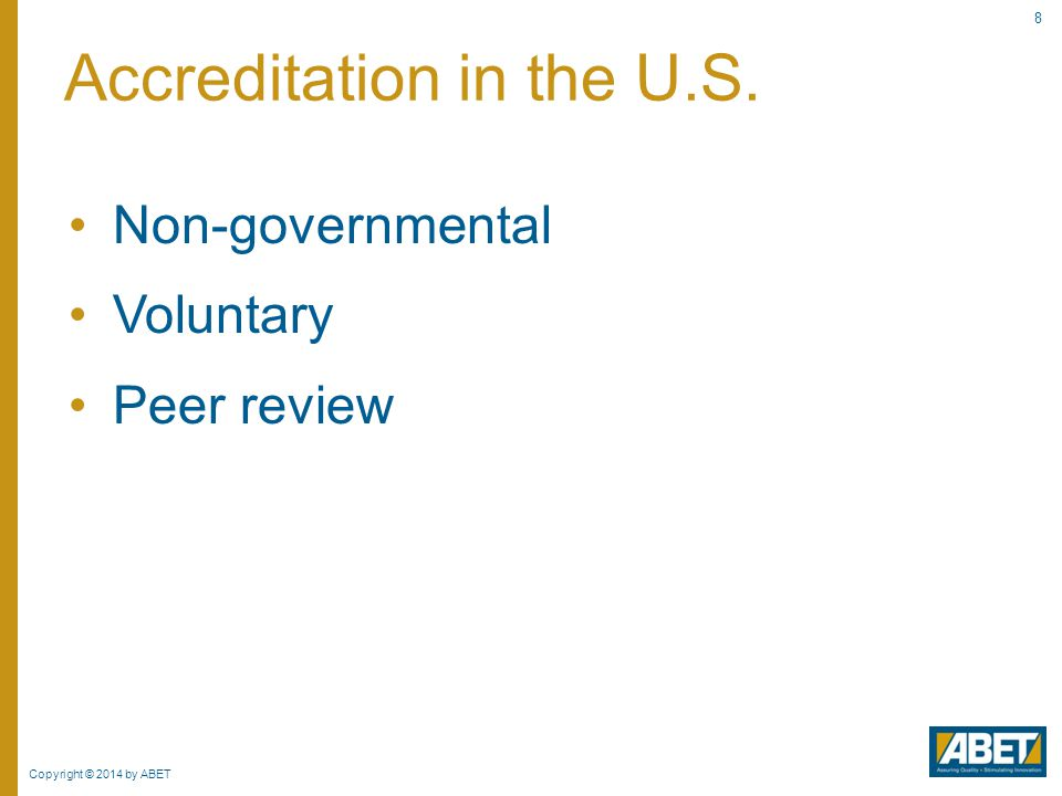 Accreditation in the U.S.
