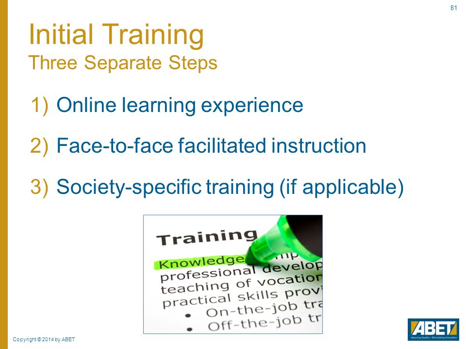 Initial Training Three Separate Steps