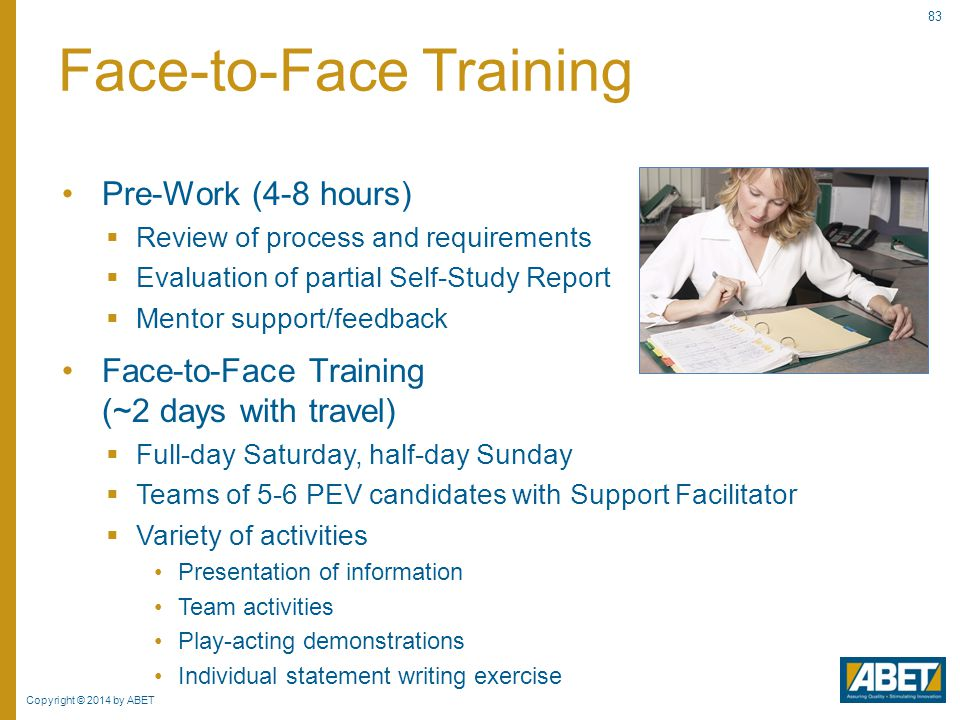 Face-to-Face Training