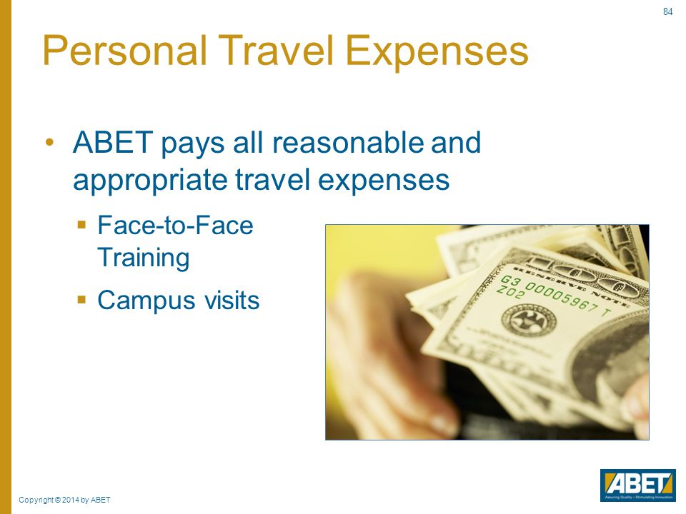Personal Travel Expenses