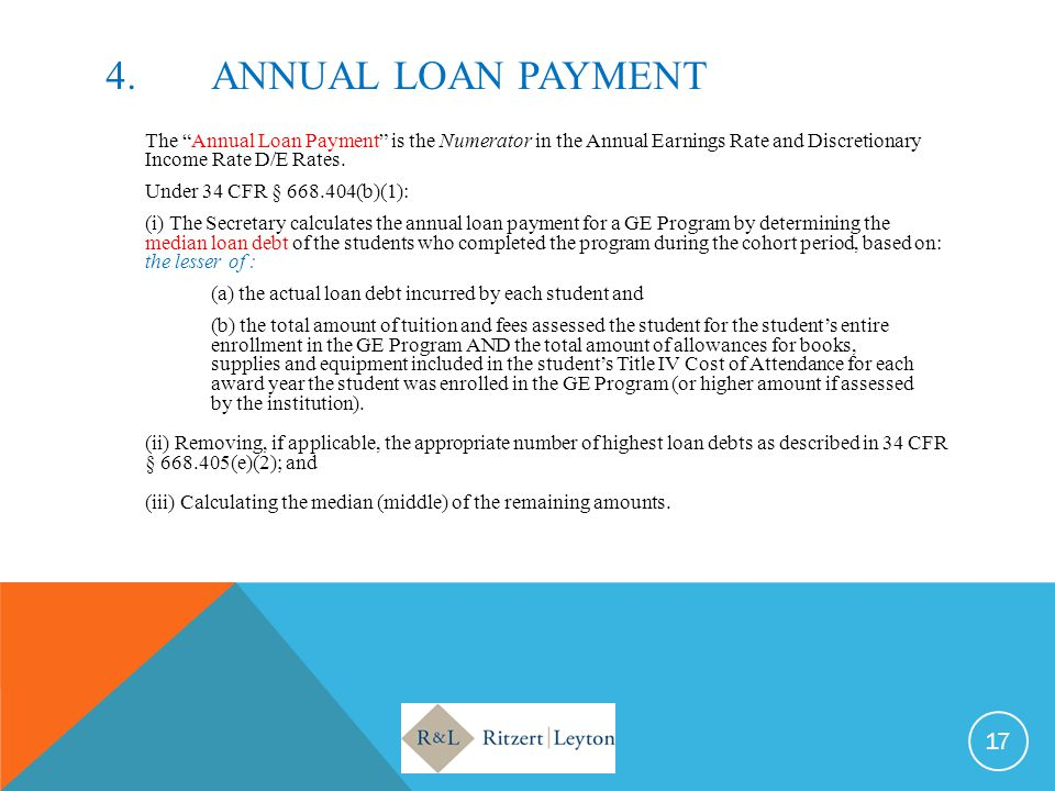 4. Annual LOAN PAYMENT