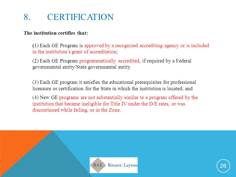 8. CERTIFICATION