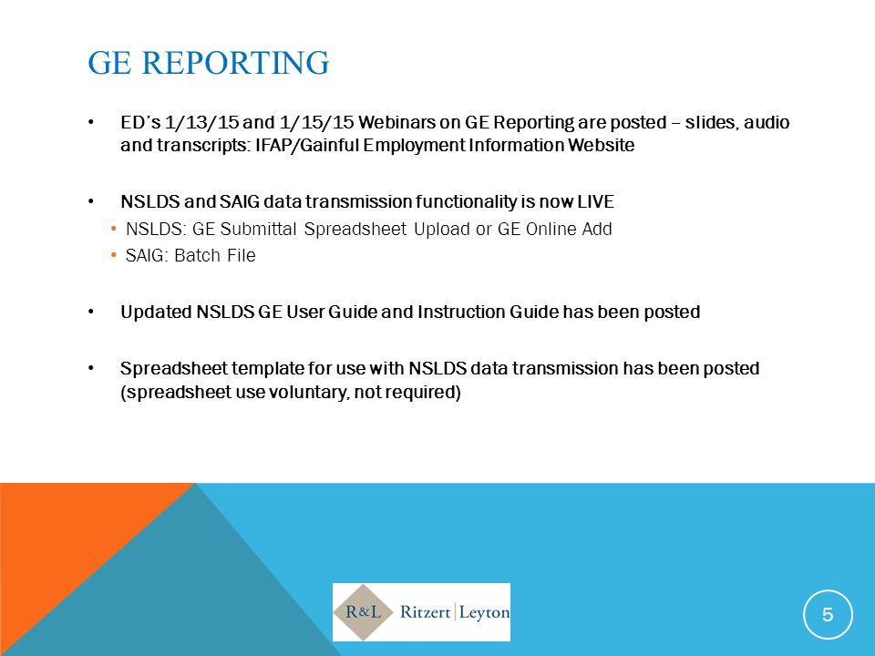 GE REPORTING