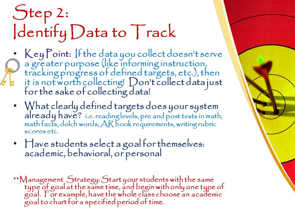 Step 2: Identify Data to Track