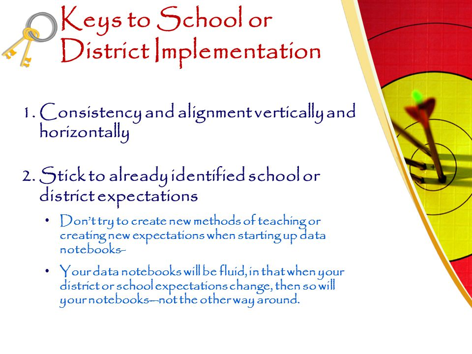 Keys to School or District Implementation