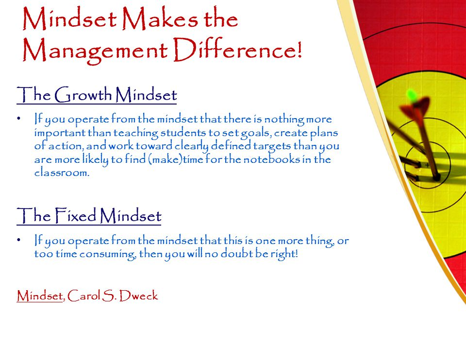 Mindset Makes the Management Difference!