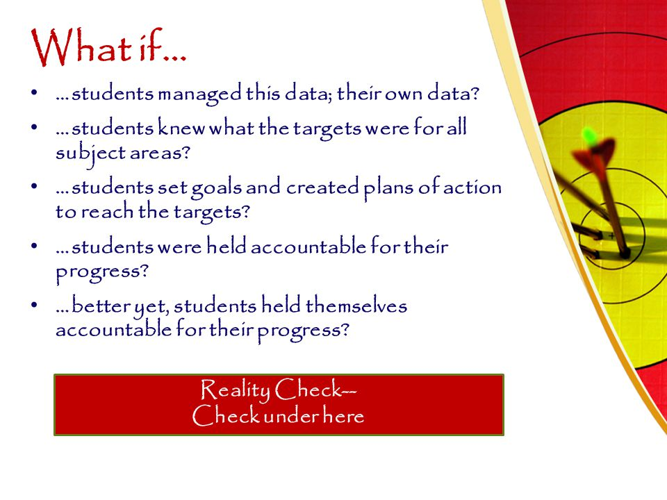 What if… …students managed this data; their own data