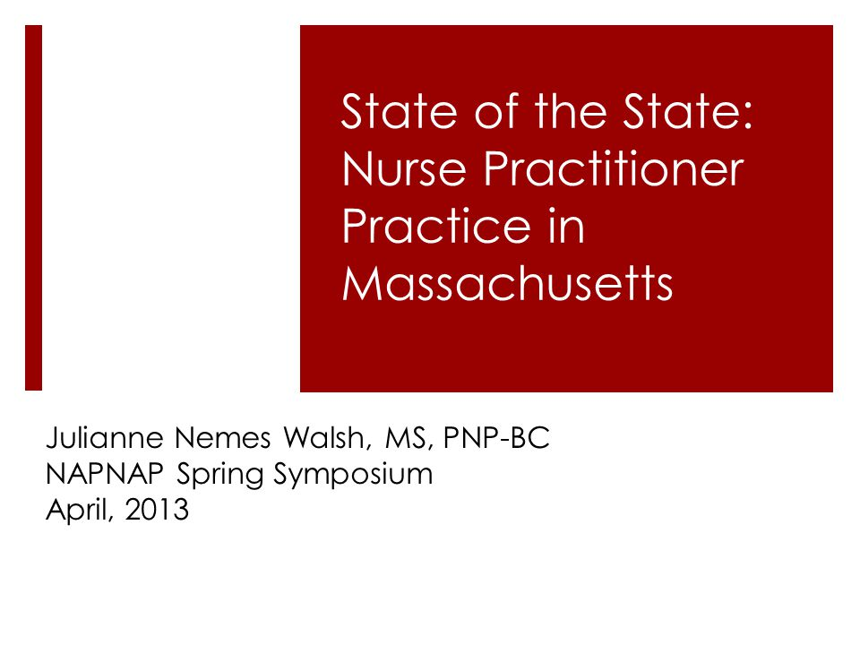 Julianne Nemes Walsh, MS, PNP-BC NAPNAP Spring Symposium April, 2013