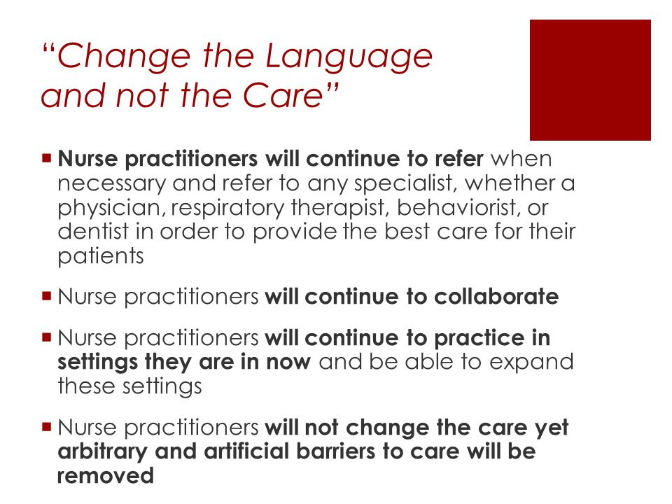 Change the Language and not the Care