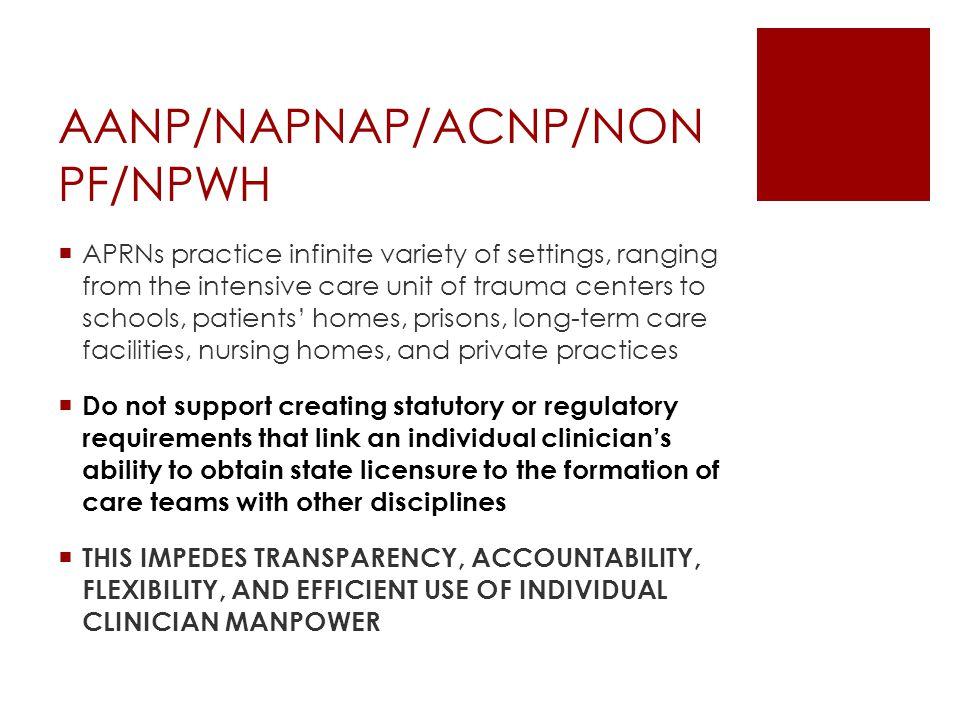 AANP/NAPNAP/ACNP/NONPF/NPWH