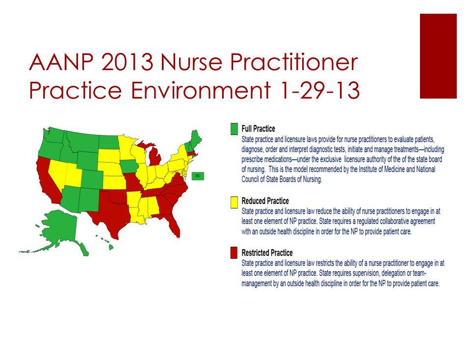 AANP 2013 Nurse Practitioner Practice Environment 1-29-13