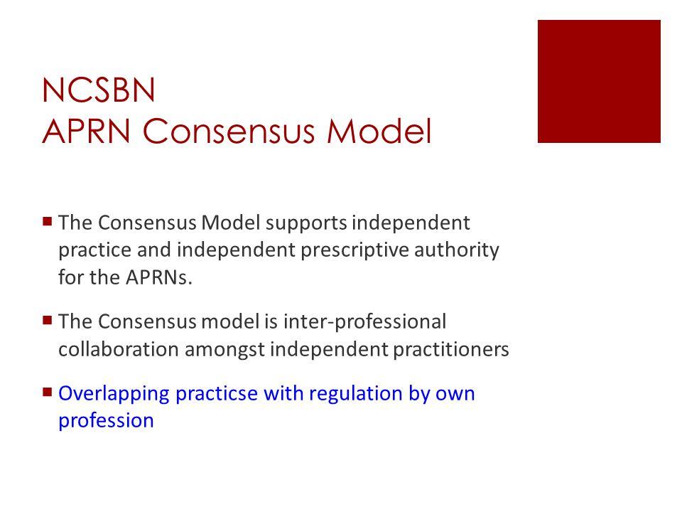 NCSBN APRN Consensus Model