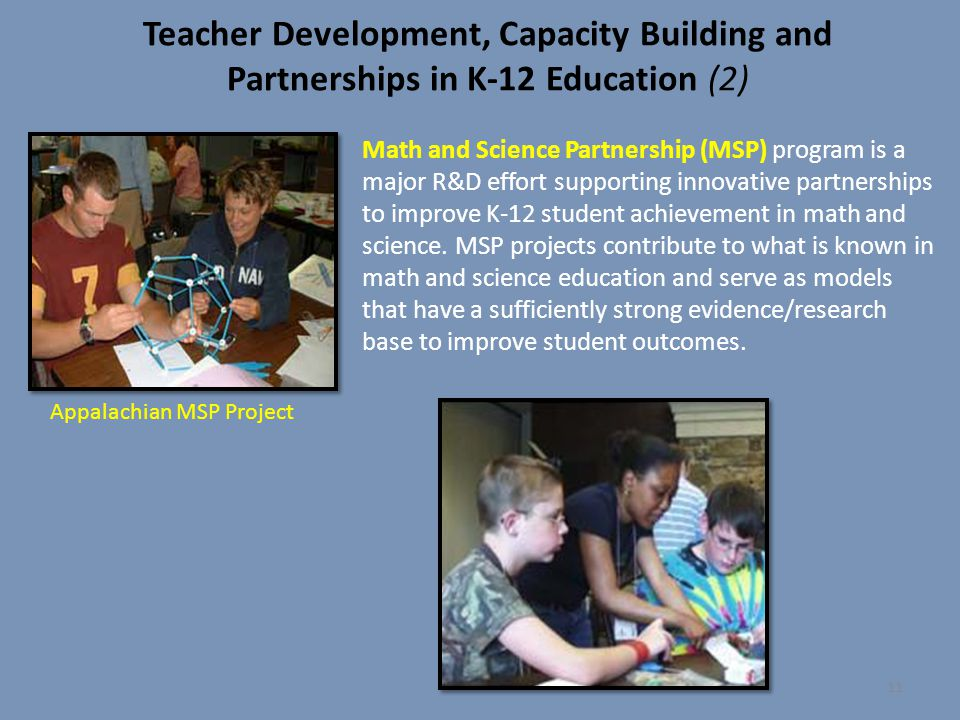 Teacher Development, Capacity Building and Partnerships in K-12 Education (2)