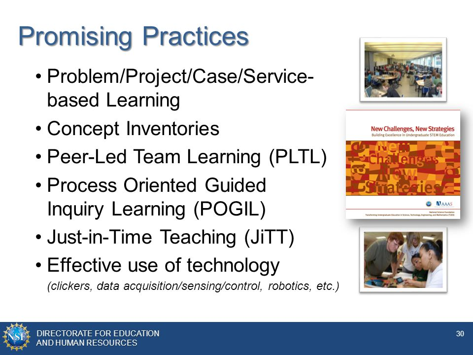 Promising Practices Problem/Project/Case/Service- based Learning