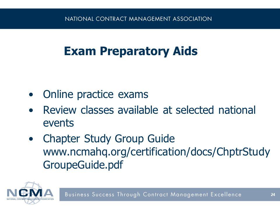 New!! CPCM & CFCM Online Preparatory Classes