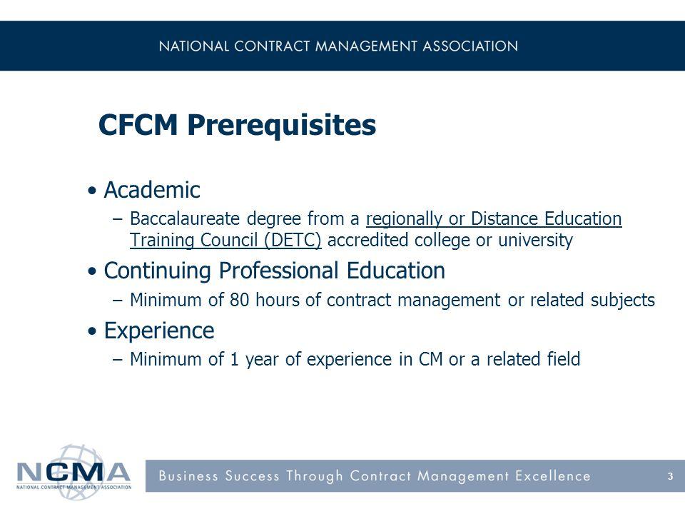 CFCM Exam Passing score = 70%