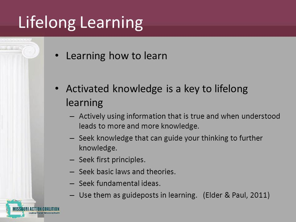 Lifelong Learning Learning how to learn