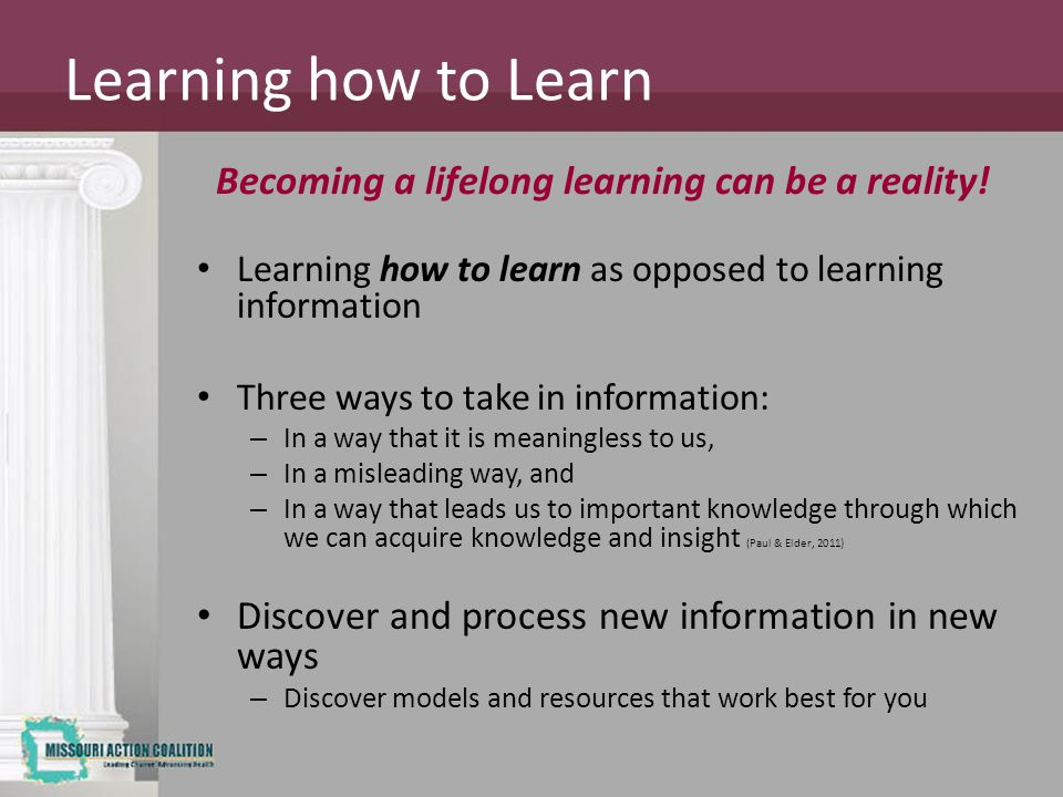 Becoming a lifelong learning can be a reality!