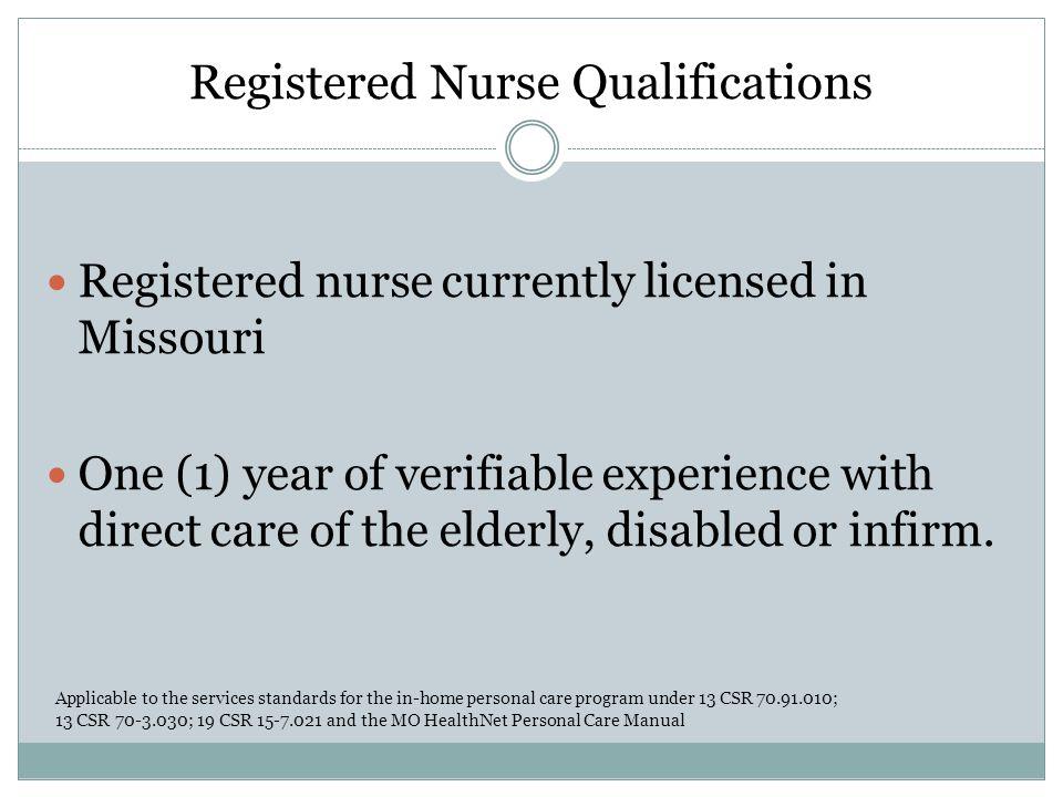 Registered Nurse Qualifications