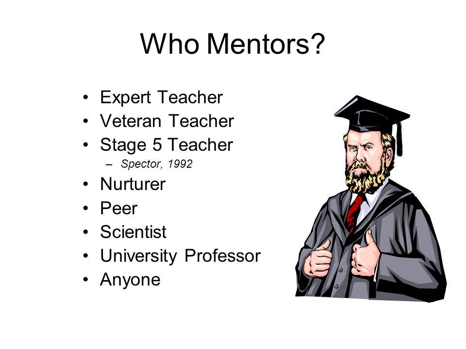 Who Mentors Expert Teacher Veteran Teacher Stage 5 Teacher Nurturer