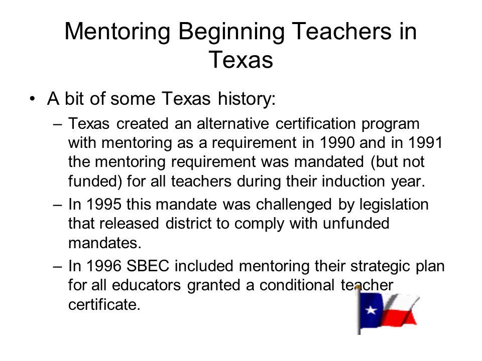 Mentoring Beginning Teachers in Texas