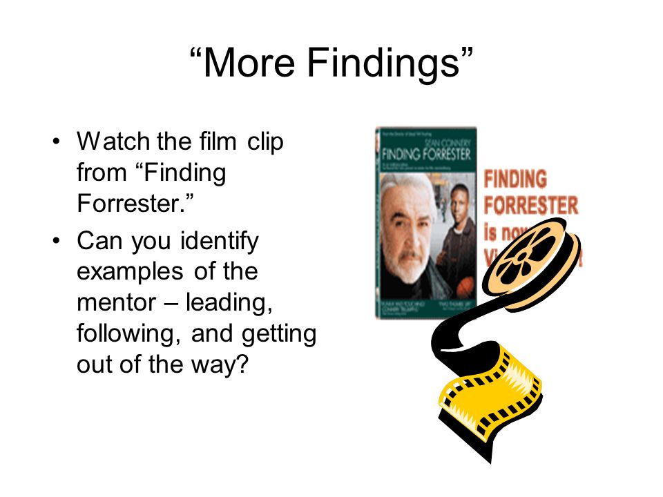 More Findings Watch the film clip from Finding Forrester.