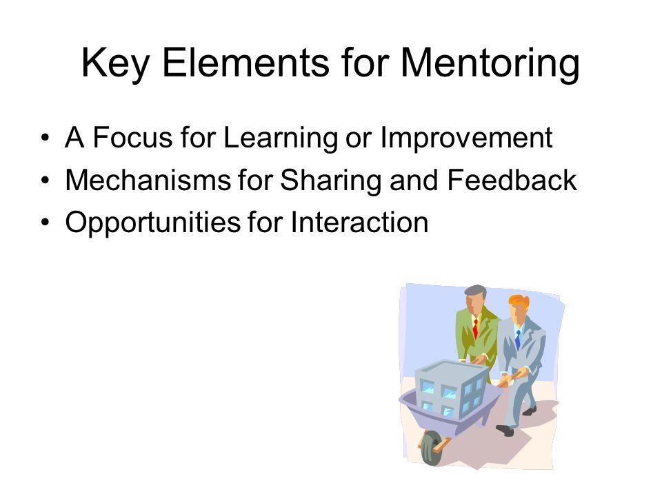 Key Elements for Mentoring