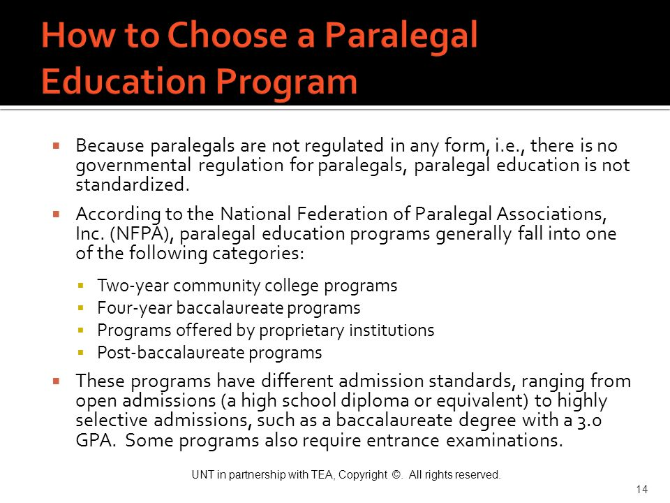 How to Choose a Paralegal Education Program