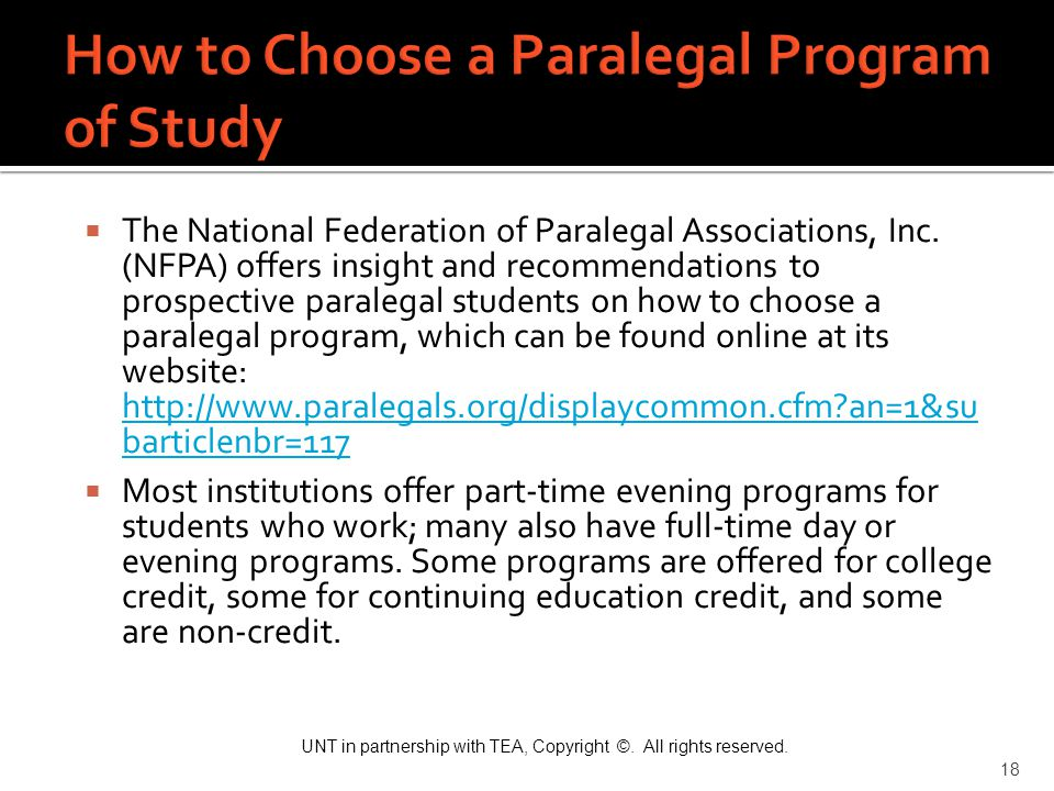 How to Choose a Paralegal Program of Study