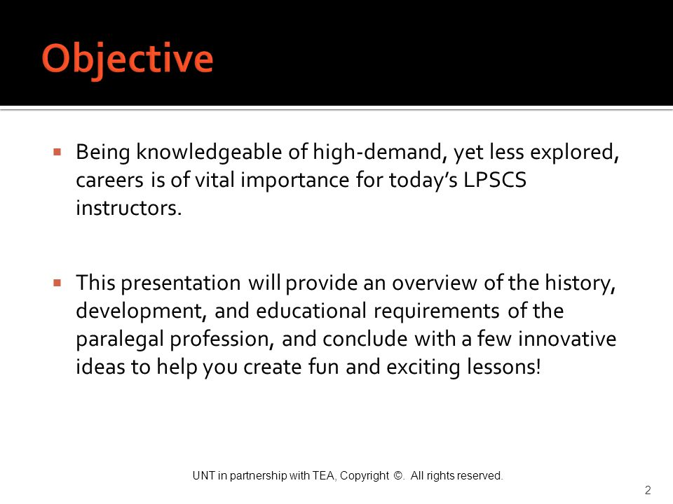 Objective Being knowledgeable of high-demand, yet less explored, careers is of vital importance for today's LPSCS instructors.
