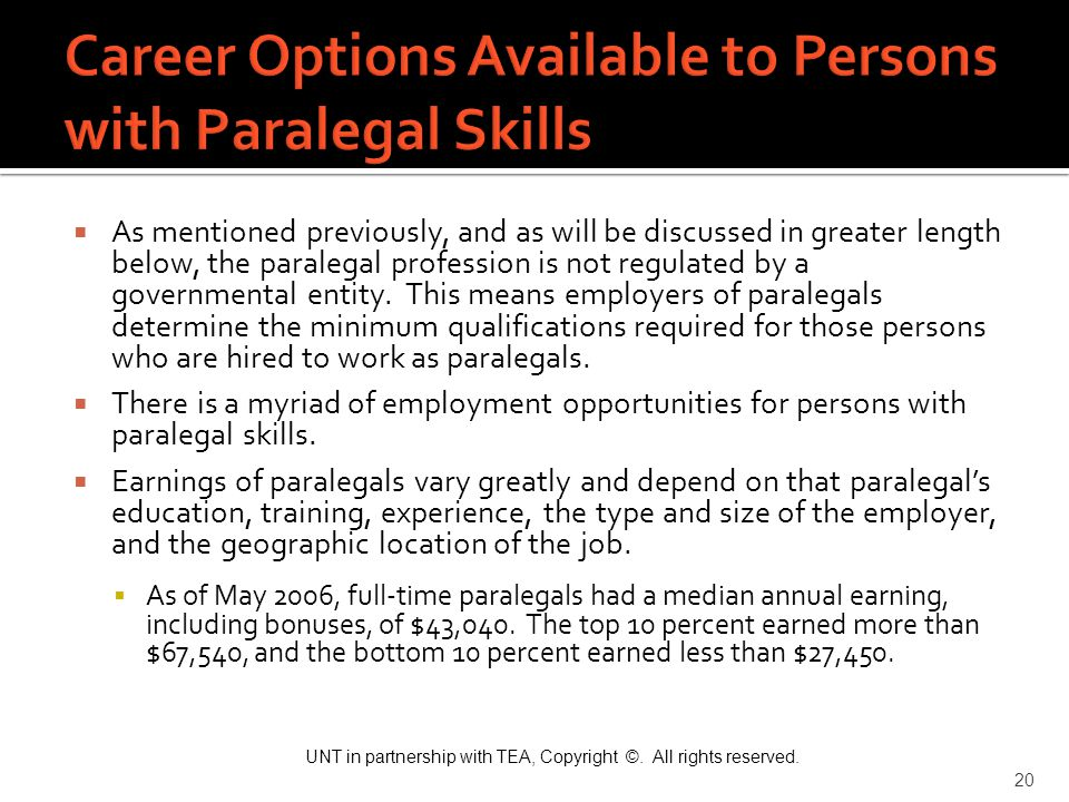 Career Options Available to Persons with Paralegal Skills