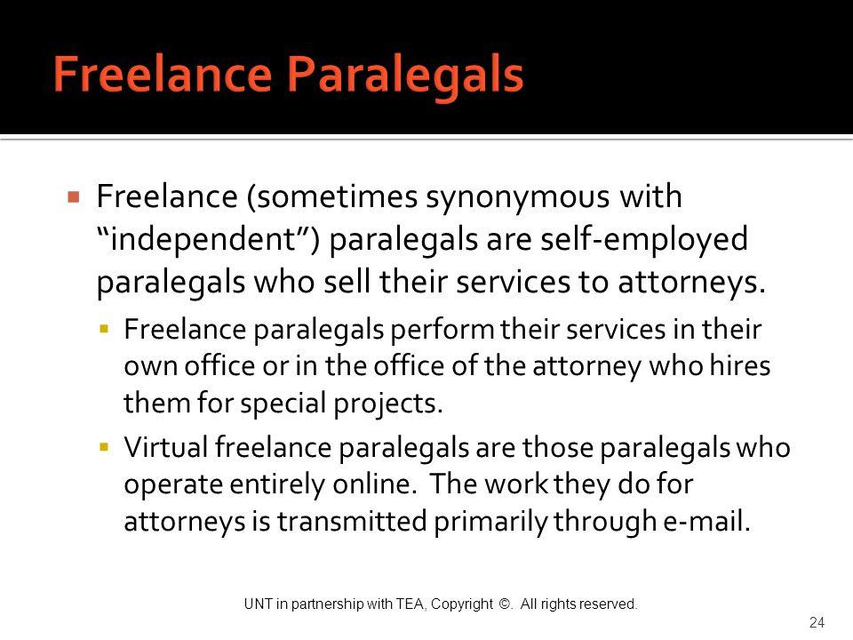 Freelance Paralegals