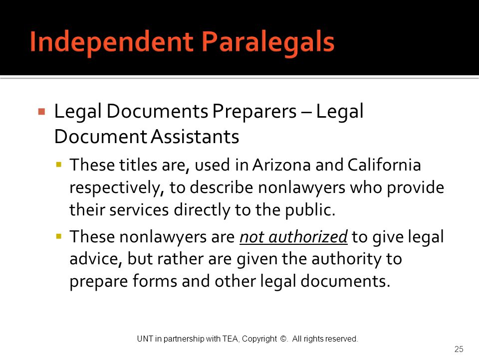 Independent Paralegals