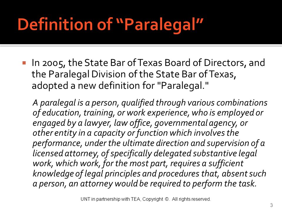 Definition of Paralegal