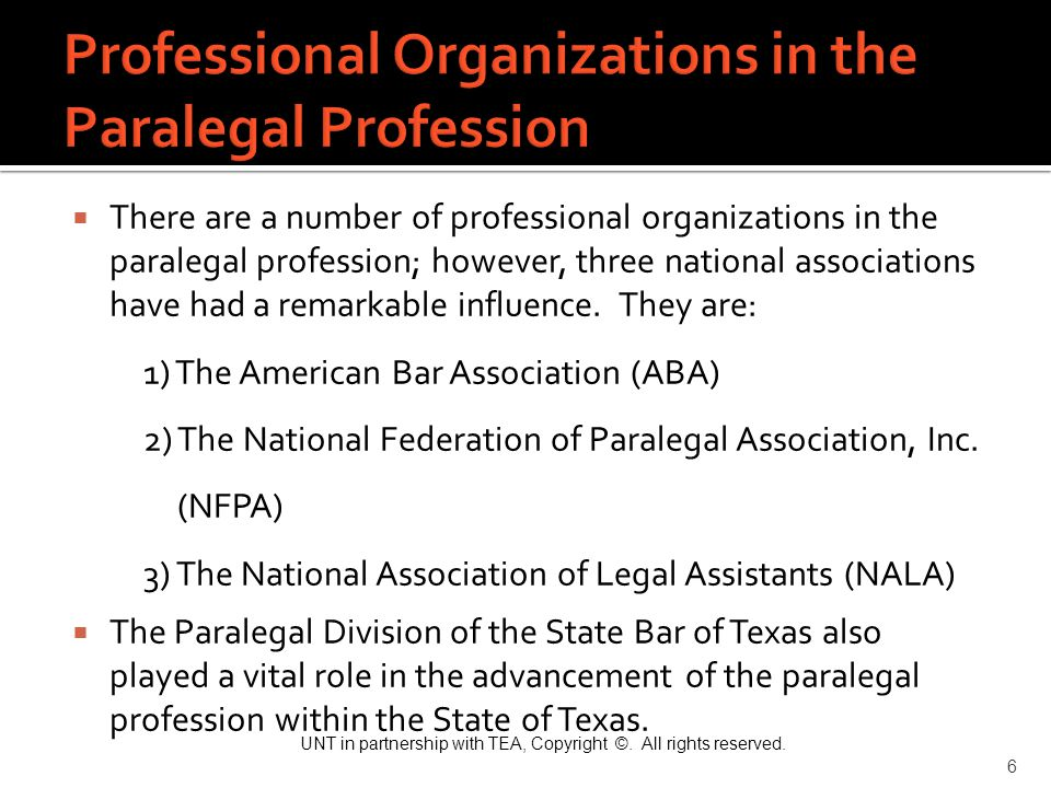 Professional Organizations in the Paralegal Profession