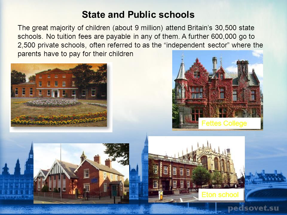 State and Public schools