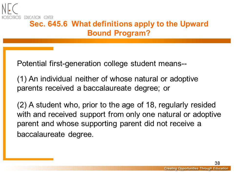 Sec. 645.6 What definitions apply to the Upward Bound Program