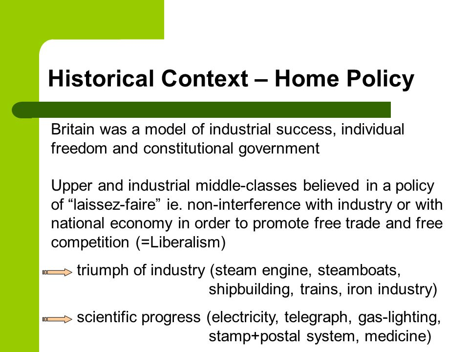 Historical Context – Home Policy