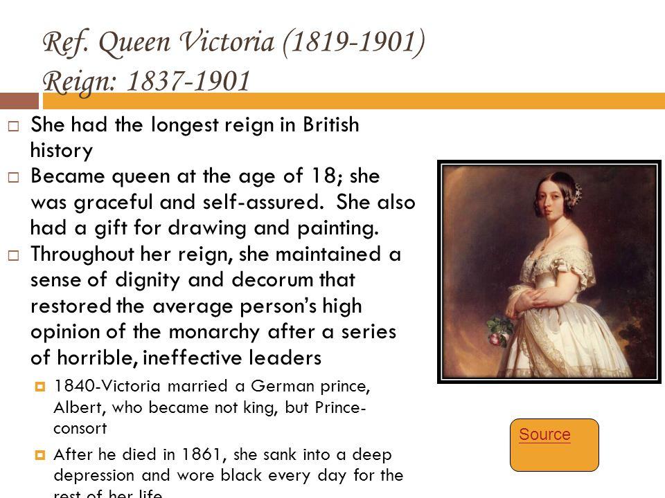 Ref. Queen Victoria (1819-1901) Reign: 1837-1901