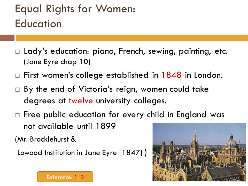 Equal Rights for Women: Education