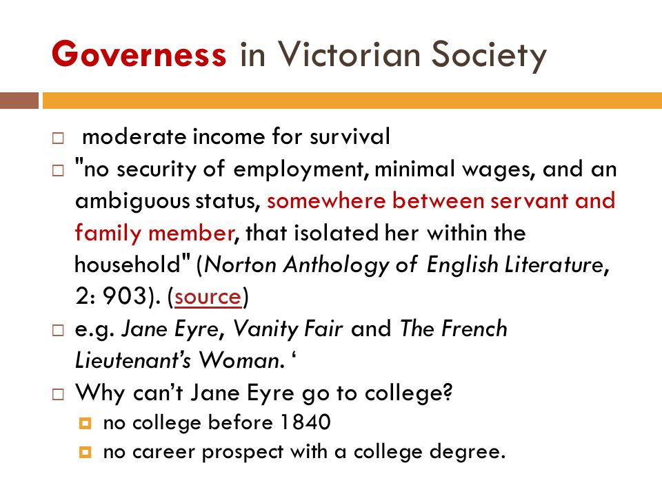 Governess in Victorian Society